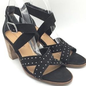 NEW Lucky Brand Kesey Black Leather Studded Heels